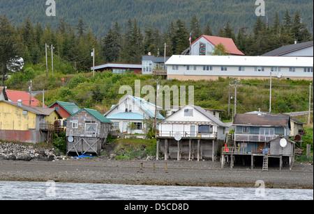 The Tlingit town of Kake, Alaska. - Stock Photo