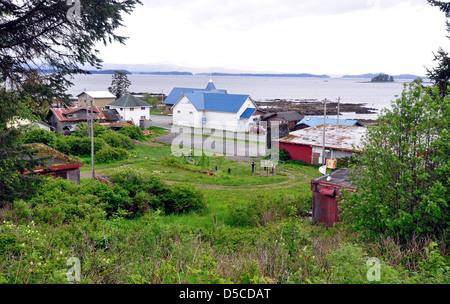 Tlingit Indian town of Kake, Alaska. - Stock Photo