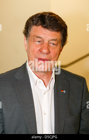 Greece's national football team's former coach German Otto Rehhagel, member of a delegation led by German Chancellor's - Stock Photo