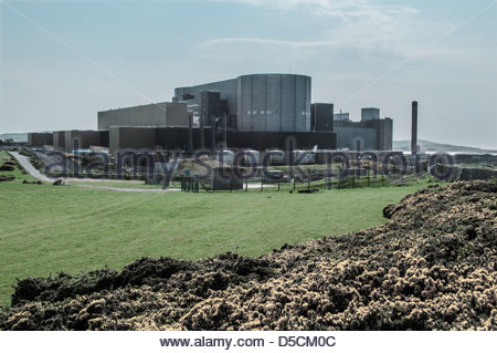 Wylfa Nuclear Power Station, Anglesey, Wales - Stock Photo