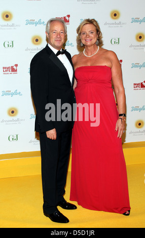 Reiner Unkel and Claudia Rutt at DKMS Life Dreamball 2011 at Ritz Carlton Hotel. Berlin, Germany - 16.09.2011 - Stock Photo