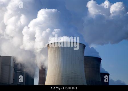 Eschweiler, Germany, RWE lignite power plant Weisweiler - Stock Photo