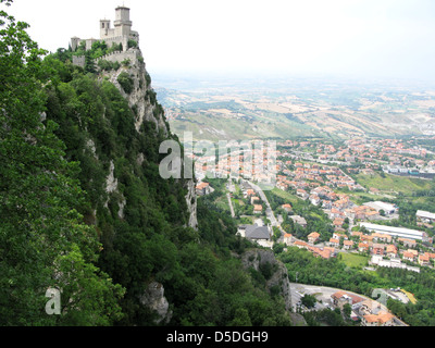 Rocca della Guaita - ancient fortress of San Marino - Stock Photo