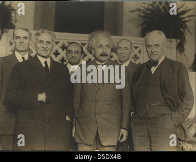 Portrait of Albert Einstein and Others (1879-1955), Physicist - Stock Photo