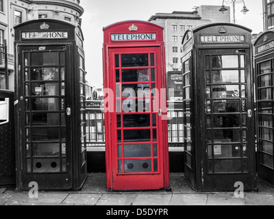 Telephone Boxes in central London - Stock Photo