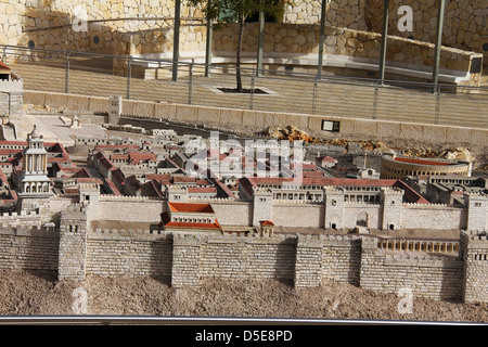 Model of the ancient Jerusalem. - Stock Photo