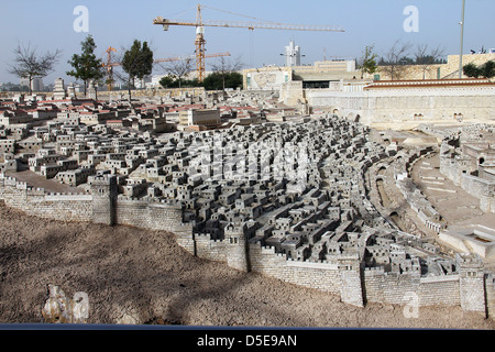 Model of the ancient Jerusalem. Israel Museum - Stock Photo