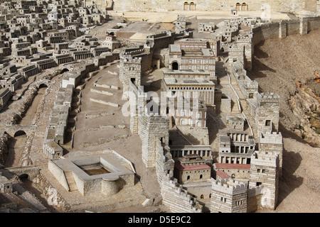 Palace of Adiabene Empress Helena, Silwan pool in ancient Jerusalem - Stock Photo