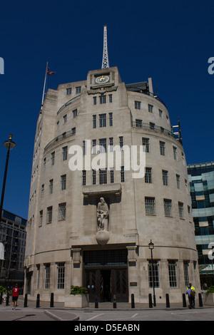 BBC Broadcasting House, Langham Place, London - Stock Photo
