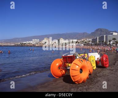 Playa Las Cuevitas, Playa de las Americas, Tenerife, Canary Islands, Spain - Stock Photo