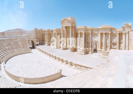 amphitheater in the ancient city of Palmyra, Syria - Stock Photo