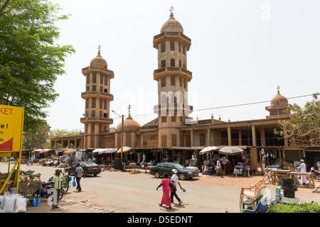 The Grand Mosque in Ouagadougou, Burkina Faso, Africa - Stock Photo