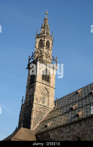 Bolzano Cathedral, Bolzano, Italy. - Stock Photo