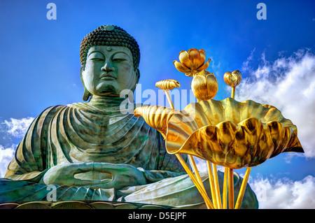 Great Buddha of Hyogo in Kobe, Japan. - Stock Photo