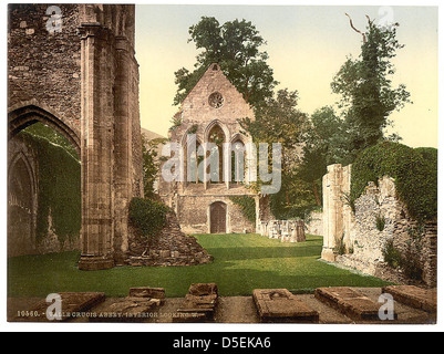 [Valle Crucis Abbey, interior looking west, Llangollen, Wales] (LOC) - Stock Photo
