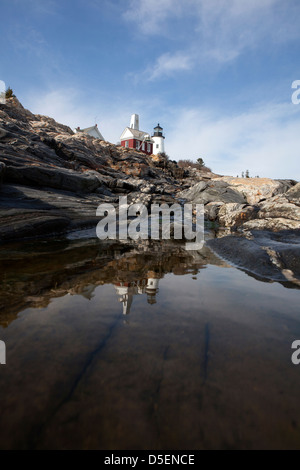 Pemaquid Lighthouse, Maine,USA - Stock Photo