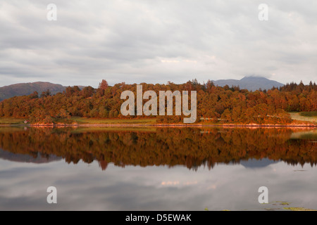 Sunset in Loch Etive near Oban, Argyll and Bute, Scotland - Stock Photo