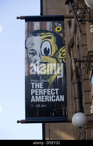 Advertisement for The Perfect American in London's West end - Stock Photo