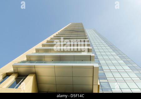 Low angle view of a residential building Dubai United Arab Emirates - Stock Photo
