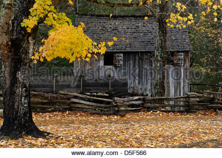 Cable Mill in Cades Cove, Great Smoky Mountains National Park - Stock Photo
