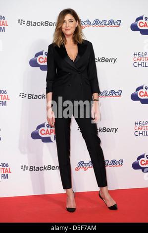 Lisa Snowdon arrives for the Jingle Bell Ball. - Stock Photo