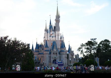 Cinderella Castle, Magic Kingdom, Walt Disney World Resort, Orlando, Florida, USA - Stock Photo
