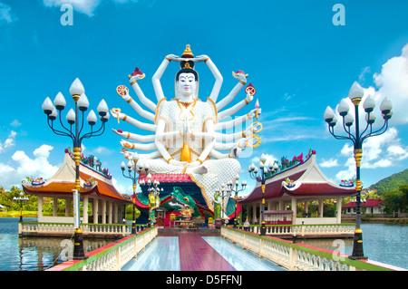 Kuan Yin statue on Koh Samui, Thailand - Stock Photo