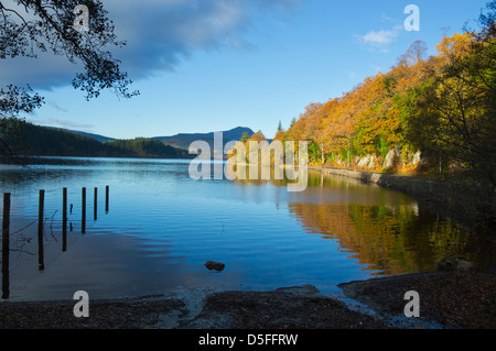 Autumn in the Trossachs, Loch ard looking to Ben Lomond, Scotland, UK - Stock Photo