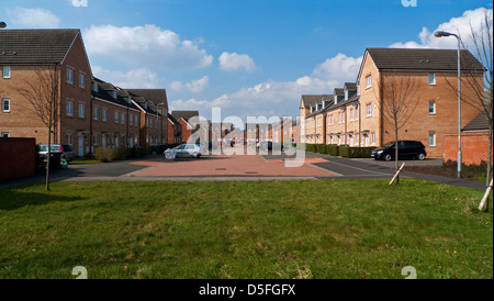 New build Bellway homes on a terraced housing property development in Llanishen Cardiff South Wales UK   KATHY DEWITT - Stock Photo