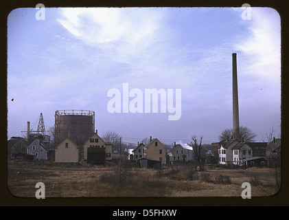 Industrial town in Massachusetts, possibly New Bedford (LOC) - Stock Photo