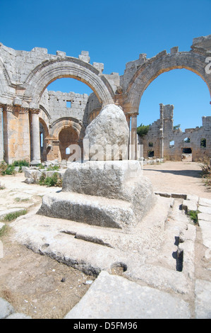 Ruins of the Church of Saint Simeon Stylites, Syria - Stock Photo