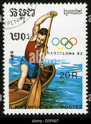 Cambodia,post mark,stamp, - Stock Photo