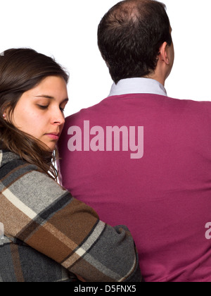 Quarreled couple not speaking to one another - Stock Photo