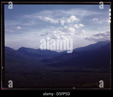 A view looking south through the White Mountains from the fire tower manned by Barbara Mortensen, a fire and airplane - Stock Photo