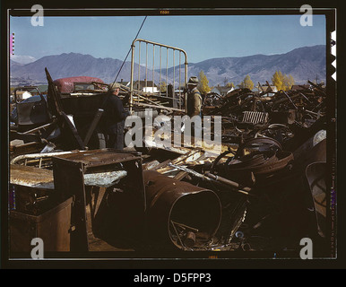 Scrap and salvage depot, Butte, Mont. (LOC) - Stock Photo