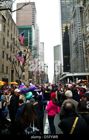 New York City, USA. 31st March, 2013. Scenes from 2013 Easter Parade and Easter Bonnet Festival on March 31, 2013 - Stock Photo