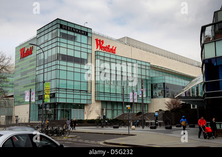 Exterior of The Westfield shopping centre ,Shepherds Bush London - Stock Photo