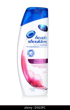 Shampoo Bottle, Anti-Dandruff, Head and Shoulders Shampoo Brand - Stock Photo