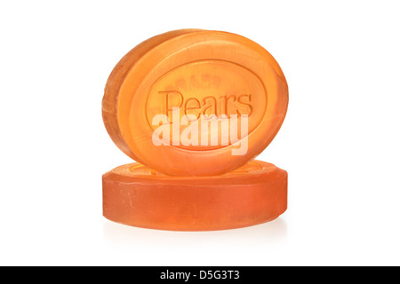 Bars of Glycerin Soap, Pears - Stock Photo