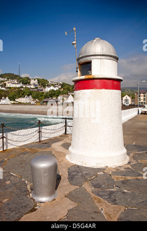 Isle of Man, Laxey, harbour lighthouse - Stock Photo