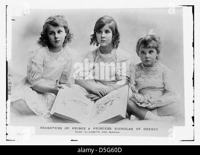 Daughters of Prince and Princess of Greece: Olga, Eliy, & Marina (LOC) - Stock Photo