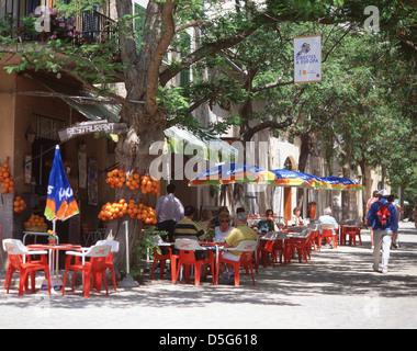 Street scene, Valldemossa, Valldemossa Municipality, Majorca (Mallorca), Balearic Islands, Spain - Stock Photo