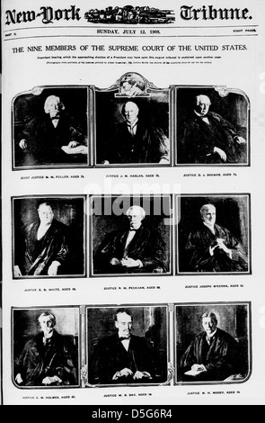 The nine members of the Supreme Court of the United States (LOC) - Stock Photo