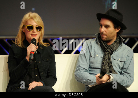 Emily Haines and James Shaw of METRIC at the 2013 Canadian Music Week in Toronto on March 22, 2013. (DCP/GMP/N8N) - Stock Photo