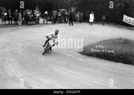 Calthorpe, rider Gill in Isle of Man TT 1926 - Stock Photo