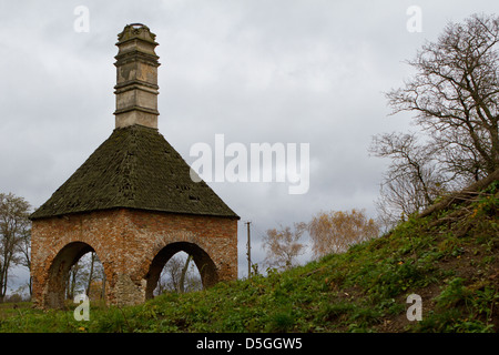 The old-time castle XVI ages.Janusz oven Ostrog. Ostrog. Ukraine - Stock Photo