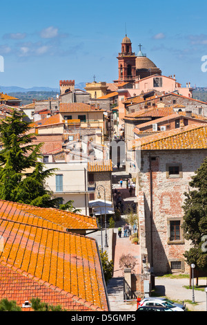 Roofs of the buildings and street in the Castiglione del Lago town, Italy - Stock Photo
