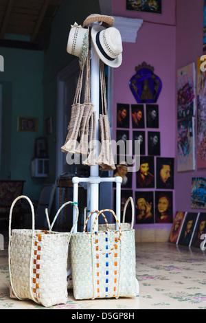 Cuba, Sancti Spiritus Province, Trinidad, Cuban souvenirs - Stock Photo