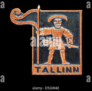 Tallinn, Estonia, pin badge - Stock Photo