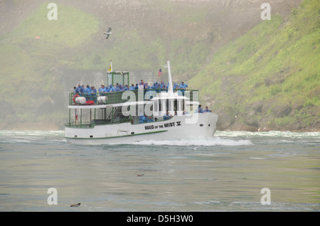 Canada, Ontario, Niagara Falls. Maid of the Mist sightseeing boat. - Stock Photo